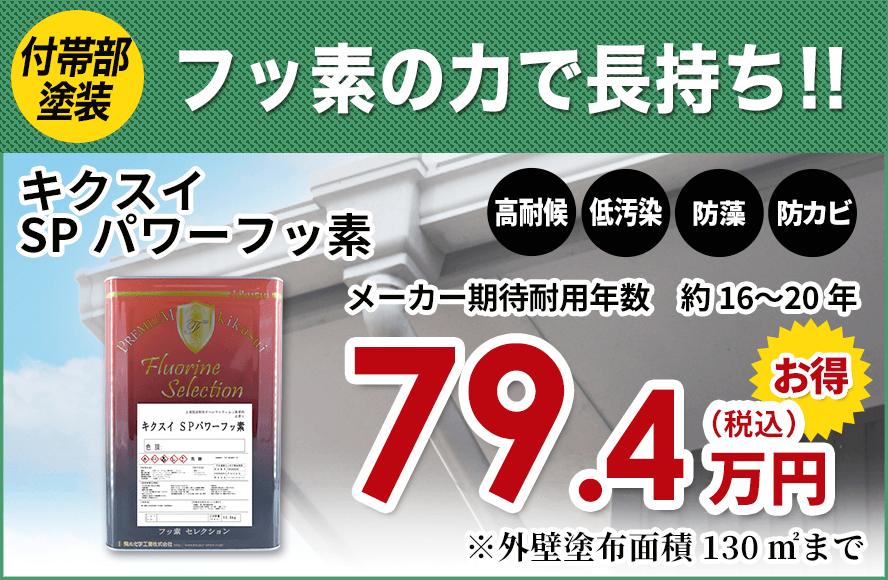 フッ素の力で長持ち!!キクスイSPパワーフッ素79.4万円