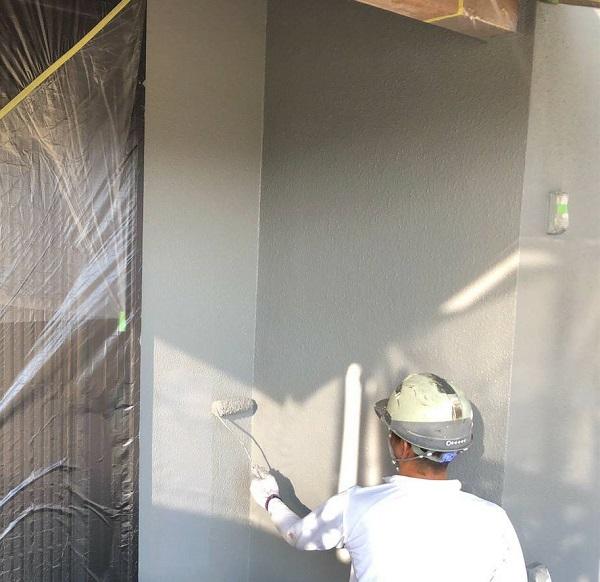岡山県浅口市 外壁塗装 ひび割れ補修 下塗り、中塗り、上塗りとは