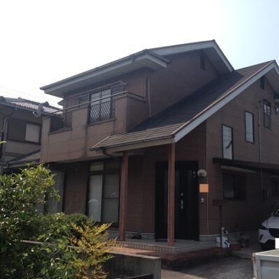 岡山県笠岡市 F様邸 屋根塗装・外壁塗装 施工前の状態 劣化症状
