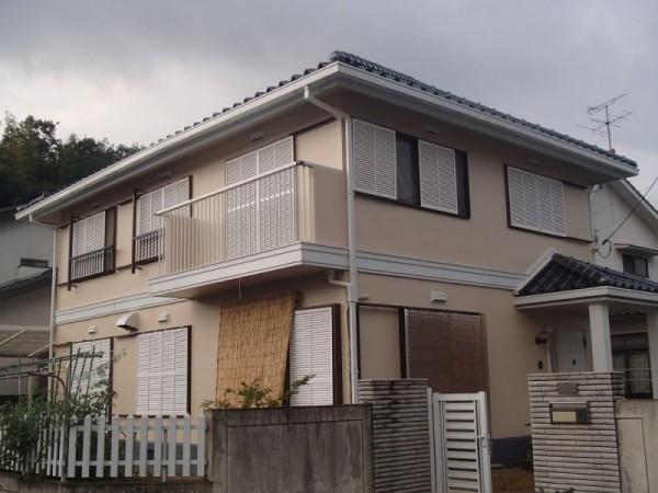 岡山県浅口市鴨方町 M様邸 屋根塗装・外壁塗装 (1)