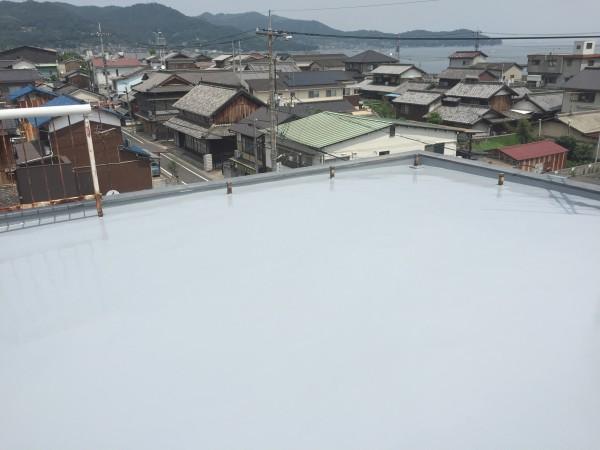 岡山県浅口市 屋上防水リフォーム工事 (1)