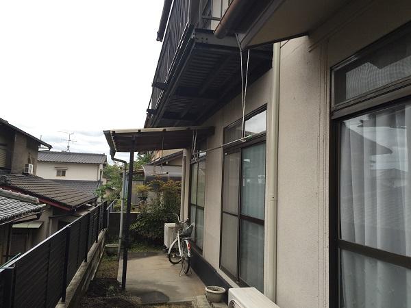 岡山県浅口市鴨方町 K様邸 屋根葺き替え・外壁塗装 ベランダ改修工事 フッ素塗料で外壁塗装 (2)