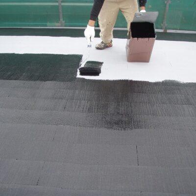 岡山県笠岡市 F様邸 屋根塗装・外壁塗装 化粧スレート屋根 3度塗り