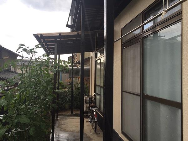 岡山県浅口市鴨方町 K様邸 屋根葺き替え・外壁塗装 ベランダ改修工事 フッ素塗料で外壁塗装 (1)