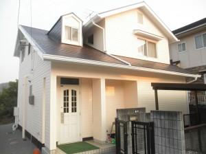 岡山県浅口市 屋根塗装・外壁塗装・カーポート波板張替え・土間工事1 (1)