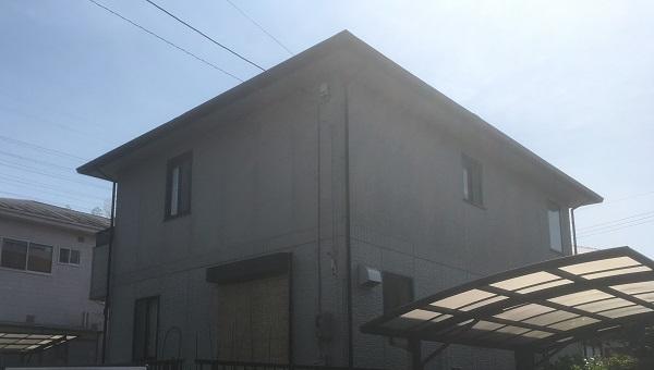 岡山県笠岡市 Y様邸 屋根塗装・外壁塗装 施工前の状況 劣化症状1
