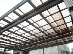 岡山県浅口市 屋根塗装・外壁塗装・カーポート波板張替え・土間工事 (2)